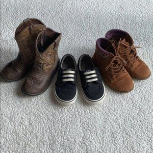 Trio of Girl's Shoes Boots Cowgirl Boots 9.5 & 10T
